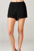 CROCHET-LLA HIGH WAIST SHORTS