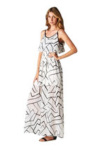 GEOMETRIC MEXI DRESS