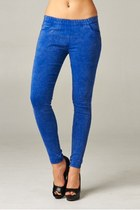 ACID BLUE WASH SKINNY JEGGINGS