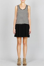Classic Drop Waist Stripped Dress