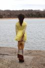 Yellow-vintage-jonathan-logan-dress-white-thrifted-tights-brown-newport-news