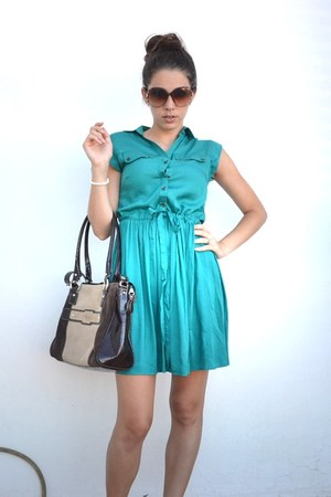 Primark dress - VGG bag - Gucci sunglasses - Tous bracelet
