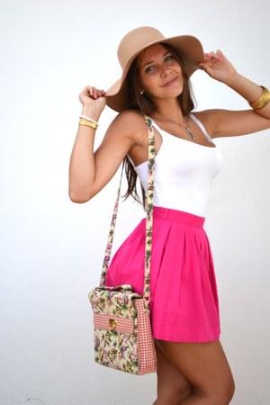 Bershka skirt - Bershka hat - Primark bag - Primark top