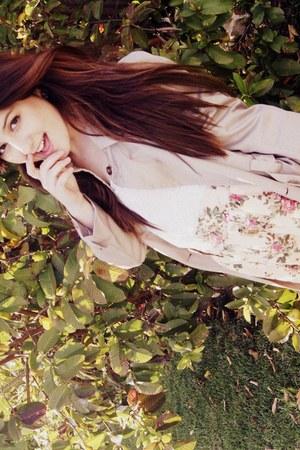 beige beige cotton Heritage XXI coat - light pink Heritage XXI skirt