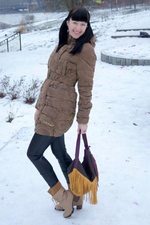 mustard Fiorelli bag - tan wholesaleitonline boots - camel desigual coat