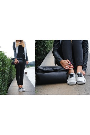Zara bag - Pinkie blazer - Stradivarius pants - Zara blouse - Vans sneakers