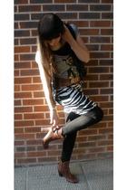 H&M t-shirt - Ebay vest - vintage belt - H&M skirt - H&M boots