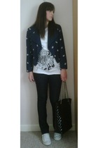 vintage jacket - Matalan top - Matalan jeans - Matalan accessories - Converse sh