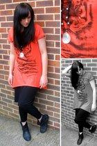 Zara t-shirt - H&M skirt - Topshop leggings - new look