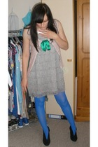 H&M dress - homemade - Topshop tights - warehouse shoes
