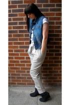 DIY vest - H&M pants - Daniel Footwear boots