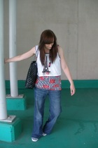 new look vest - Topshop top - Matalan accessories - H&M jeans - Stead & Simpson