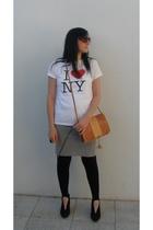 Ebay t-shirt - H&M skirt - Ebay vintage - Matalan leggings - warehouse shoes