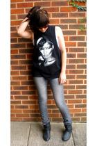 Topshop vest - H&M jeans - new look boots