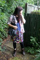 Primark shirt - DIY dress - H&M  DIY accessories - Topshop leggings - dune boots