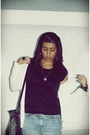 White-forever-21-cardigan-blue-diy-dress-black-zara-t-shirt-black-zara-pur
