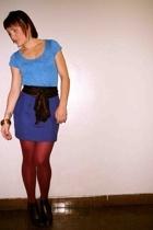 forever 21 shirt - vintage skirt