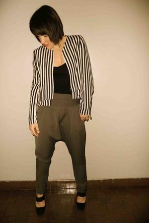 Zara jacket - Zara pants - Prada shoes - American Apparel top