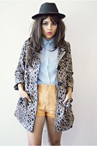 H&M coat - vintage blouse