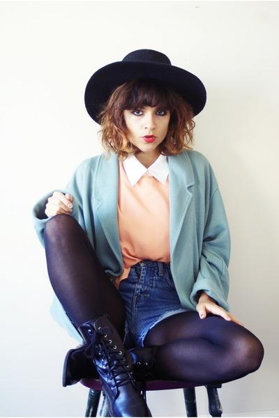 vintage shorts - H&M boots - Zara blouse