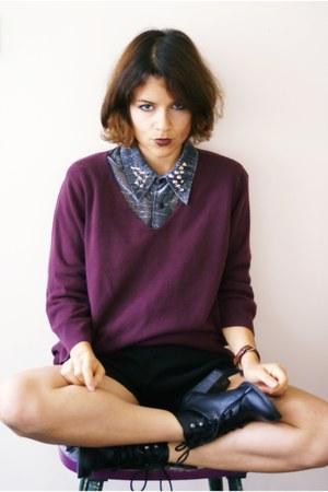 DIY blouse - H&M shoes - Zara jumper