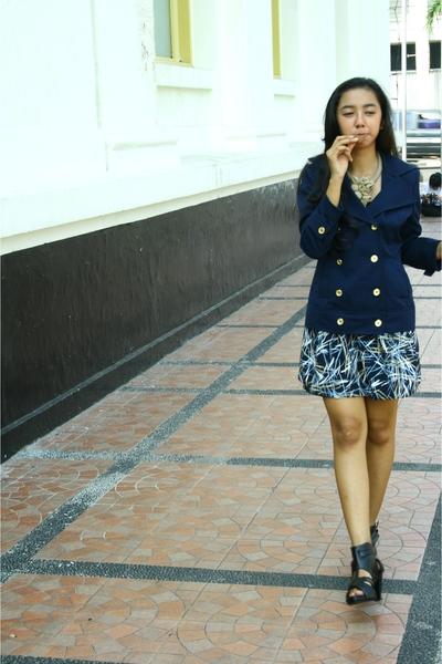 a to z fashionline blazer - DIY skirt - Nefertiti jewelz necklace - unbranded bo