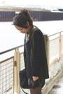 Gray-silence-noise-dress-black-trouve-sweater-black-alexander-wang-bag