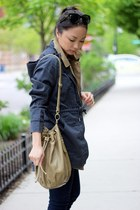 olive green utility ecote vest - dark gray anorak utlity Athleta jacket