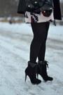 Suede-colin-stuart-boots-satchel-balenciaga-bag-floral-anthropologie-skirt