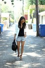 White-fitted-topshop-blazer-black-rocco-alexander-wang-bag