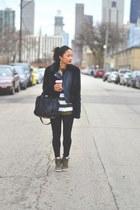 black Topshop jacket - black leather Alexander Wang bag