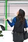 Blue-zebra-sleeve-torn-by-ronny-kobo-sweater-black-alexander-wang-bag