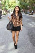 bronze leopard Parker blouse - black Alexander Wangxander Wang bag