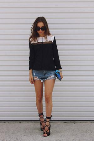 black Three Of Something blouse