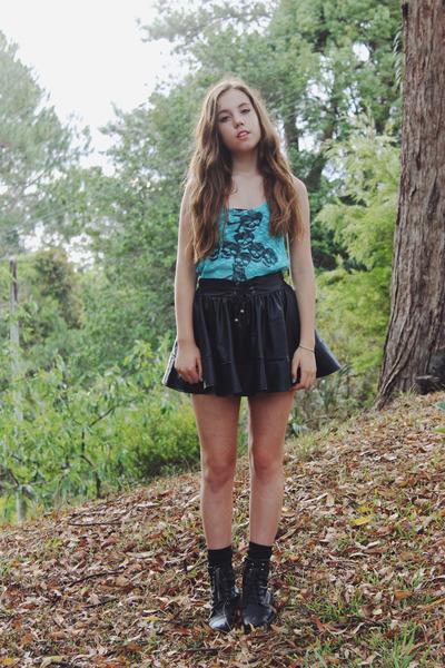Black Miss Shop Ankle Boots Shoes | Chictopia
