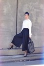 Black-crocodile-print-sammydress-bag-white-forever-21-blouse