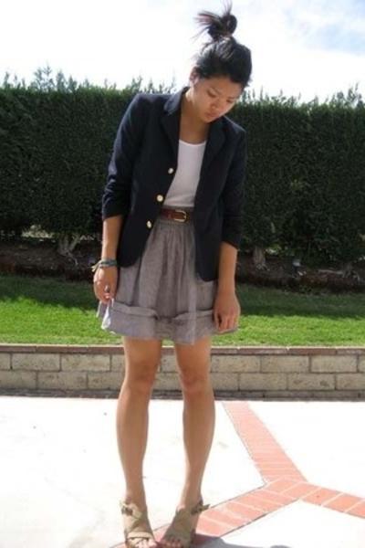 Van Heusen blazer - Target top - Forever21 skirt - Old Navy shoes