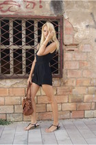 Topshop dress - crimson clohe bag - Topshop sandals