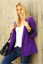 Zara jeans - Topshop blazer - Marc Jacobs purse