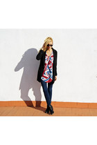 Topshop blazer - H&M boots - Zara jeans - Topshop jumper