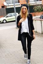 Topshop hat - Beshka blazer - Topshop shirt - Topshop pants - Converse sneakers
