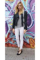 Topshop jacket - H&M jeans - Zara shirt
