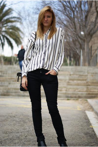 H&M blouse - Zara jeans - OASAP bag