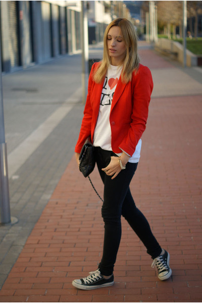 Converse sneakers - H&M Trend blazer - Topman shirt