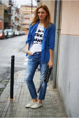 Topshop blazer - Zara jeans - Topshop shirt