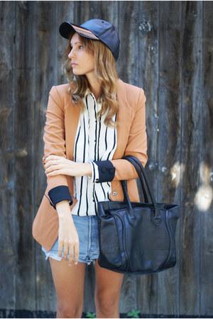 Sheinsidecom jacket - H&M hat - Levis shorts - H&M blouse