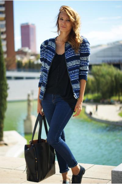 Zara jacket - Topshop jeans - OASAP bag