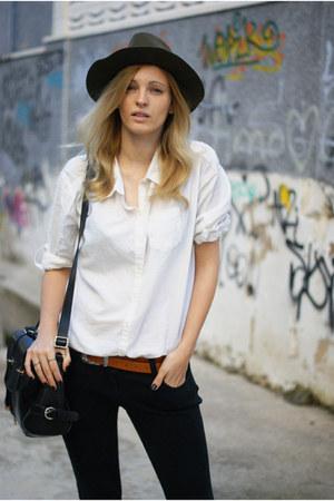 Zara hat - Topshop jeans - H&M Trend blouse