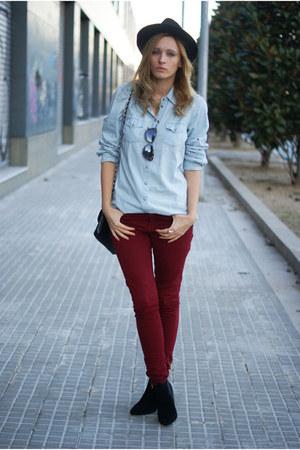 zalando boots - Zara jeans - Topshop blouse