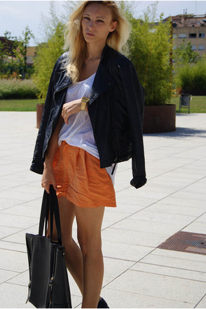 H&amp;M shorts - Zara jacket - Topshop shirt